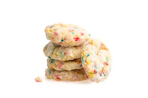 Cannabis-infused confetti cookies